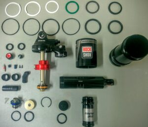 Suspension tuning, rockshox monarch, rear shock service, MTB